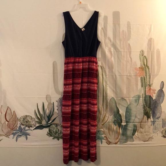 ed021bdcf3 Faded Glory Dresses   Skirts - Navy blue red maxi dress!